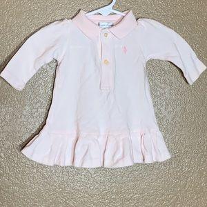 Ralph Lauren light pink polo dress & diaper cover